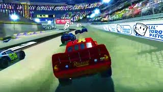 Cars 1 the Videogame 360 - No Com Episode 19 - Lightning Mcqueen VS MACK TRUCKS PISTON CUP RACE