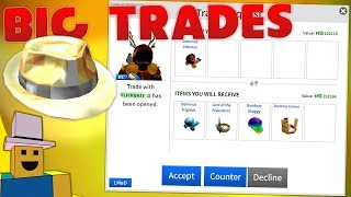 REVIEWING BIG TRADES ONLY! | ROBLOX Trading