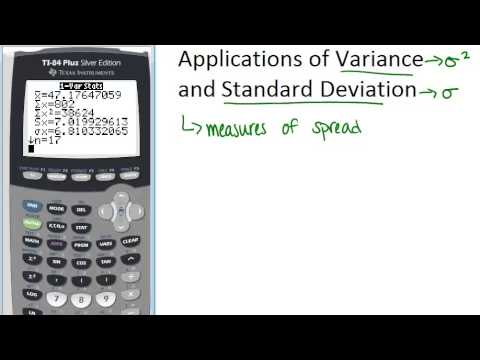 Applications of Variance and Standard Deviation Principles