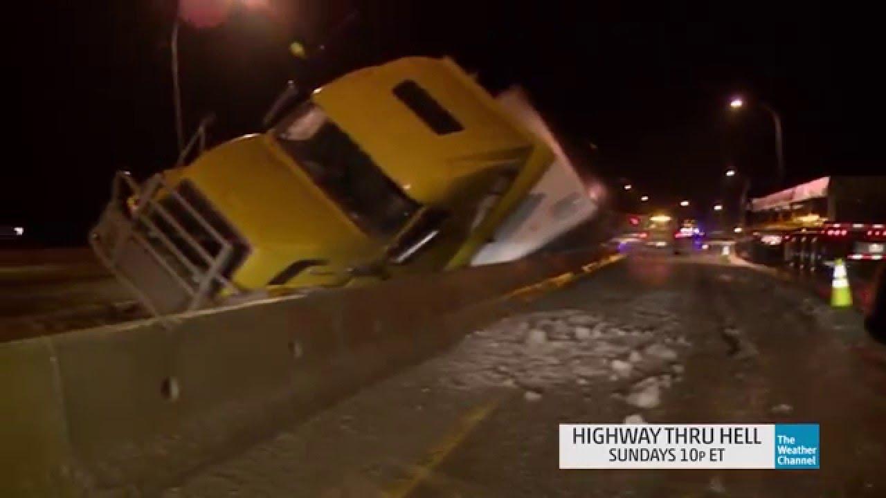 Highway Thru Hell: Dangerous Wreck Against the Median Wall