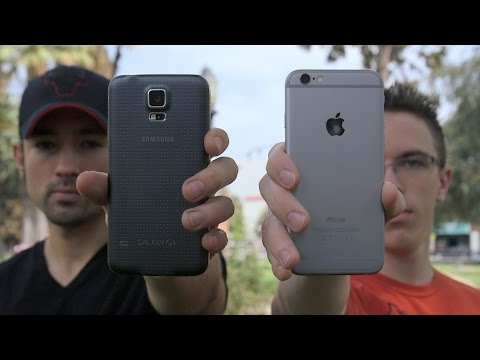 iPhone 6 vs Samsung Galaxy S5 Speed Test!