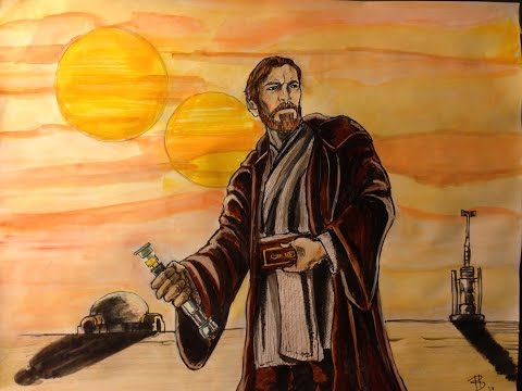 TIMELAPSE CAPTURE - PAINTING Obi-Wan Kenobi
