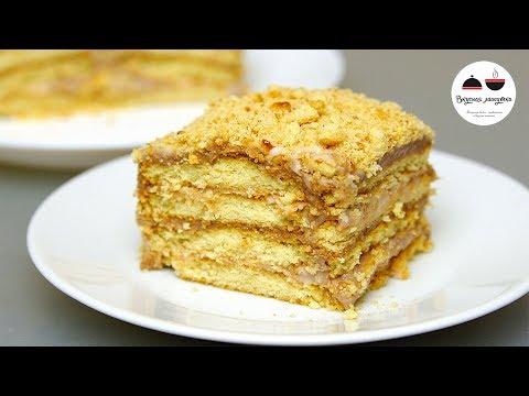 Торт без выпечки ЛЕНИВЫЙ  Очень Простой Рецепт вкусного ТОРТА ИЗ ПЕЧЕНЬЯ