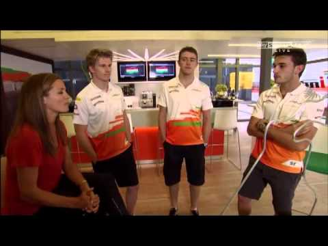 Paul Di Resta, Nico Hülkenberg and Jules Bianchi play the F1 Buzz game