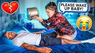 NOT WAKING UP PRANK ON WIFE