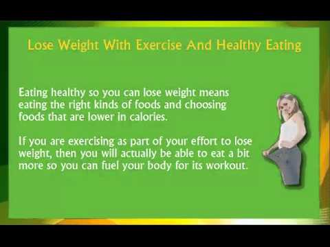 Exercise and Healthy Eating to Lose Weight