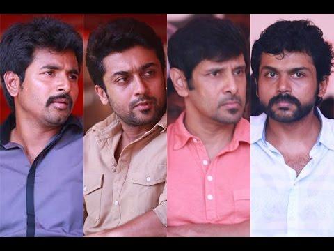 Tamil film industry's show of strength for Jayalalitha | Suriya | Karthi | Vikram - BW