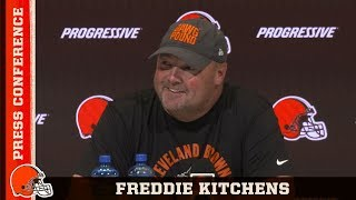 Freddie Kitchens on OBJ Comments Towards Gregg Williams' Teams | Browns Press Conference