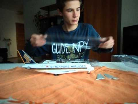 Airbus A380 Singapore Airlines (skymarks 1:200) unboxing