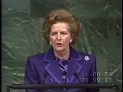 Margaret Thatcher - UN General Assembly Climate Change Speech (1989)