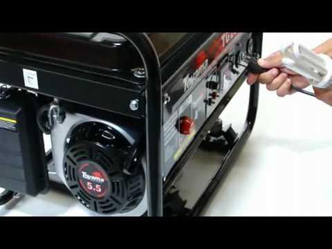 Gerador de Energia Elétrica 2200W - a gasolina - motor 4 tempos - TG2500MX - Toyama