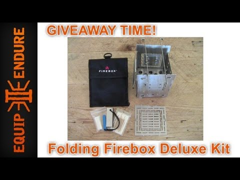Folding Firebox Campstove Giveaway by Equip 2 Endure