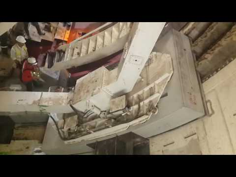 How Egyptian TBM mixshield build up a ring inside ismailia tunnels under suez canal