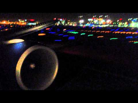 Delta Airlines Boeing 777-200LR Take Off from Los Angeles International Airport
