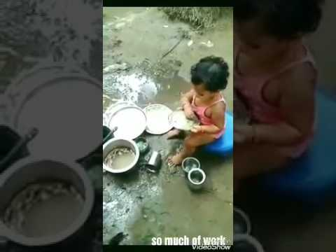 Funny little girl is very hardworking / funny videos of babies