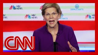 Hear Elizabeth Warren's response to question about debating Bernie Sanders