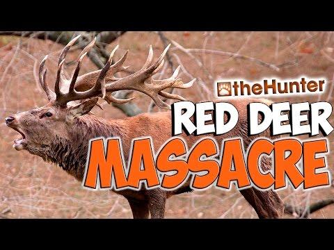 The Red Deer Massacre - theHunter 2015 PC Gameplay w/leeroy & Tyke