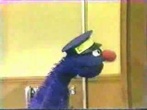 Classic Sesame Street - Grover delivers a singing telegram