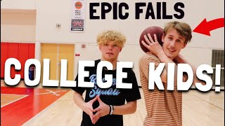 College Kids Try Crazy Layups!