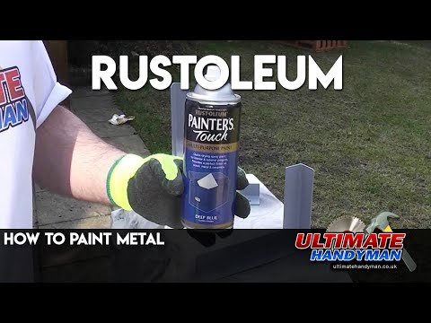 How to paint metal   Rustoleum