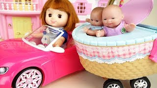Baby doll basket car toys baby Doli picnic play