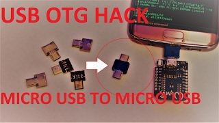 HowTo Hack your cheap mini OTG USB Adapter into an mini micro usb to micro usb adapter