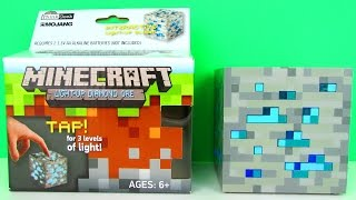 Minecraft Light-Up Diamond Ore Interactive Block Toy Review & Unboxing, ThinkGeek