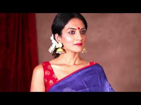 075 Be the Face of Indian Fashion in a Pure Handwoven Saree