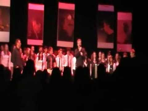 "Holy Cross Academy Choir sings ""Men of Erin"" with The Elders at the Rome Capitol Theater - 1/29/11"