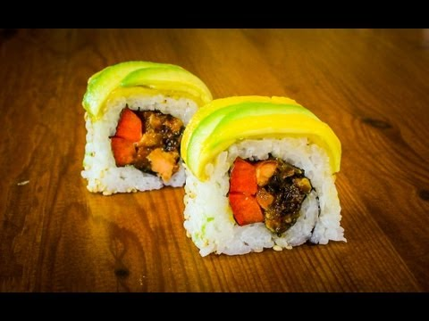 Mango Avocado Sushi Roll Recipe - How To Make Sushi Rolls