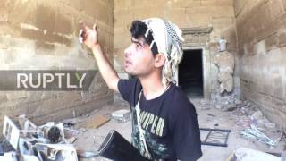 Iraq: Iraqi forces inspect Hatra following ancient city's liberation from IS