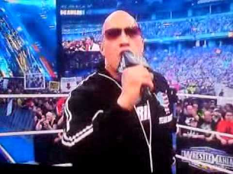 Wwe Wrestlemania 27 The Rock Intro Team Bring It!! video