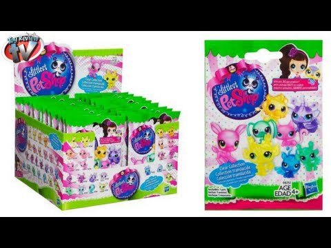 Littlest Pet Shop Clear Collection Mystery Blind Bag Figures Toy Review Hasbro