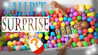 BALL PIT SURPRISE!! balloon popping