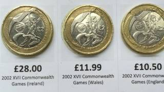 """Rare"" £2 Coin Values for 2 pound coin designs in circulation and current prices (February 2017)"