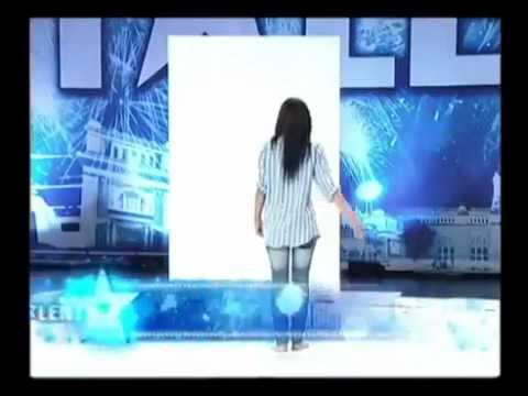 Topless Woman Paints With Her Boobs On Thailands Got Talent