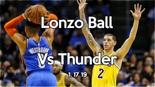 Lonzo Ball Shows Russell Westbrook who the BEST Defensive Point Guard in the NBA is!