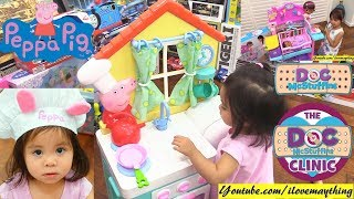Children's Kitchen Playset and Doctor Pretend Playtime. Peppa Pig and Doc McStuffins Toys