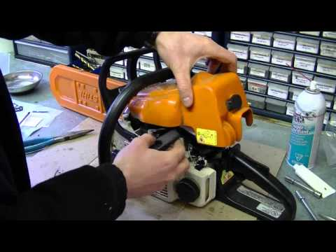 HOW TO - Carburetor & Fuel Line Repair on STIHL 017, MS170, 018, M180 Chainsaw Part 3/3