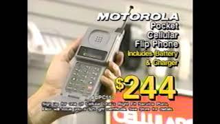 Motorola Pocket Cellular Flip Phone Commercial