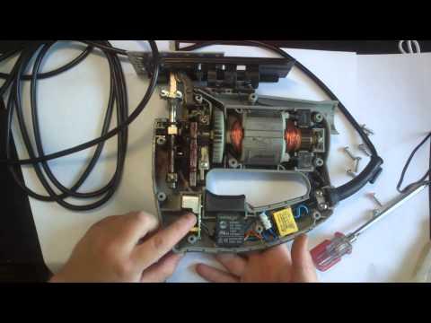 Разборка и пуск открытого электролобзика