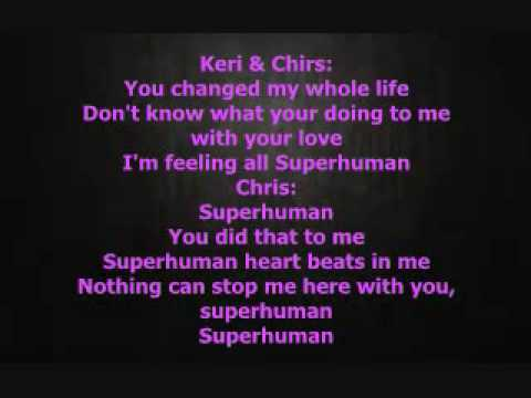Superhuman lyrics- Chris Brown ft. Keri Hilson