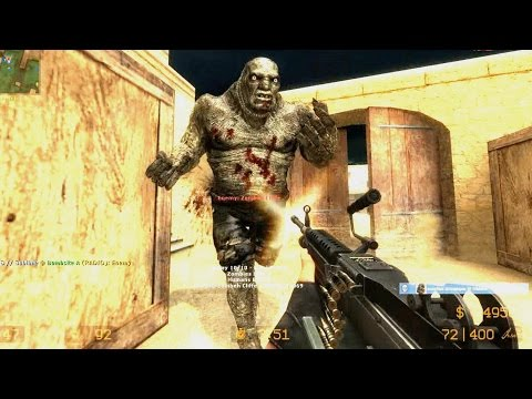 Counter Strike Source Zombie Riot online gameplay Dust 2 with boss fight