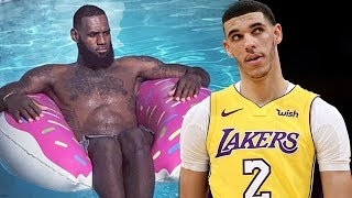Lonzo Ball Is LeBron's SON's FAVORITE PLAYER!!