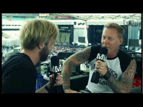 James Hetfield of Metallica Interview - Soundwave Festival 2013