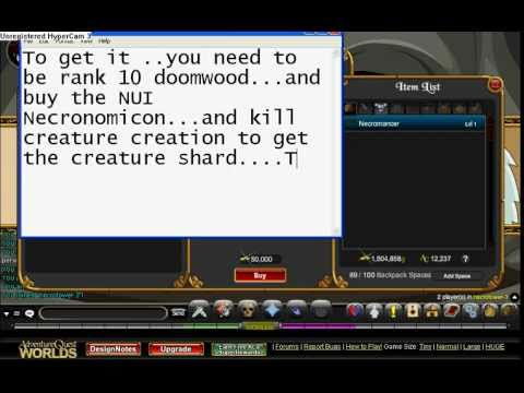 =AQW= How to get Necromancer(Easy And Hard Way)