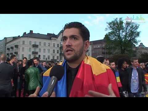 Interview Cezar (Romania) at the 2013 Eurovision Opening Reception in Malmö