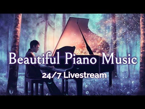🔴Beautiful Piano Music LIVE 24/7: Instrumental Music for Relaxation, Study, Stress Relief