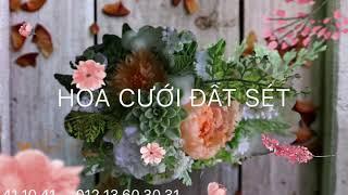 HOA ĐẤT SÉT, hoa cưới đất sét