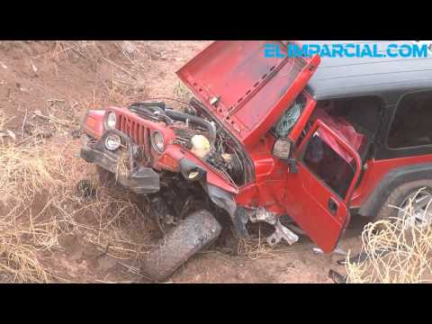 Sufre familia accidente en carretera Hermosillo-Guaymas